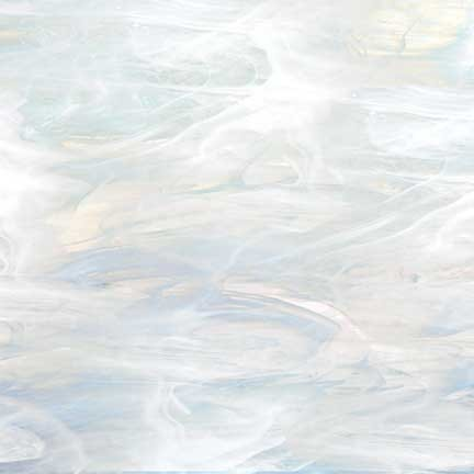 Biely perleťový